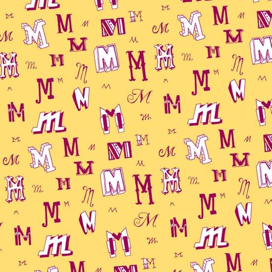 Letter Patterns, Part M Art Print