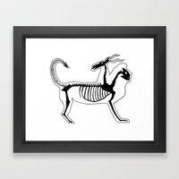 Chimera Skeleton Framed Art Print