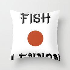 Shaved fish Throw Pillow