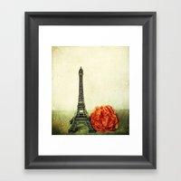 Textured Paris StillLife… Framed Art Print