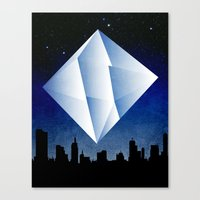 Ramiel Thunder of God Vector Angel Art from Evangelion Anime Series. Canvas Print