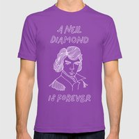 Diamond Mens Fitted Tee Ultraviolet SMALL