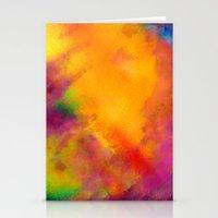 Purple - Abstract Digita… Stationery Cards