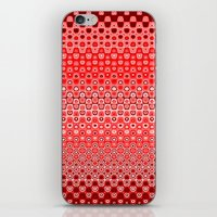 Mosaic Red iPhone & iPod Skin