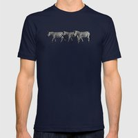 Zebras Mens Fitted Tee Navy SMALL
