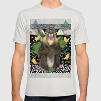 MANDRIL Mens Fitted Tee Silver SMALL