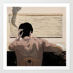 Man at Desk Art Print