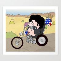Easy Riding Art Print