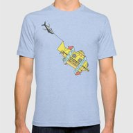 This Is An Adventure   T… Mens Fitted Tee Tri-Blue SMALL