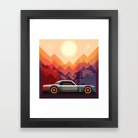 Into the Sun, Ford Mustang 65 KB Framed Art Print