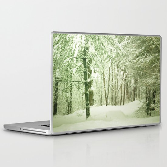 Winter Pine Trees Laptop & iPad Skin