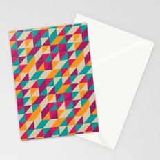 Triangles Pattern Stationery Cards