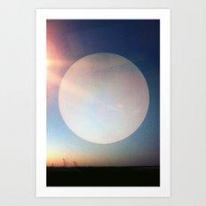 Artificial Moon Art Print