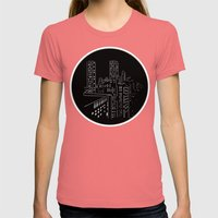 City Nights, City Lights Womens Fitted Tee Pomegranate SMALL