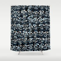 Abstract Series of Skulls Shower Curtain