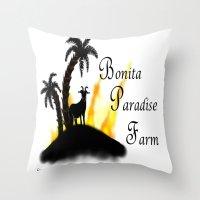 Farm logo Throw Pillow
