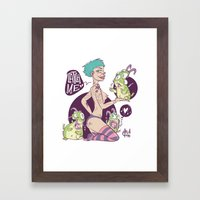 Babes&Monsters  Framed Art Print