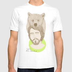 mr.bear-d White SMALL Mens Fitted Tee