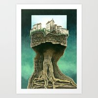 City On A Tree Art Print