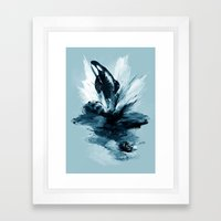 Deep Blue Rising Framed Art Print