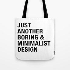 Boring and Minimalist Tote Bag