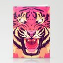 Cool angry tiger Stationery Cards