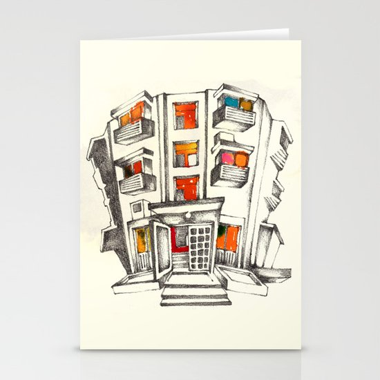 Japanese building Stationery Card