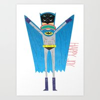 The Bat Mang! Art Print