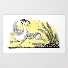 Garden Duck Art Print