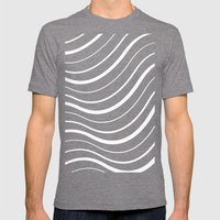 FlagWaving01 Mens Fitted Tee Tri-Grey SMALL