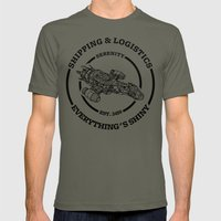 SERENITY SHIPPING AND LOGISTICS Mens Fitted Tee Lieutenant SMALL