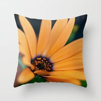 Spring orange bloom Throw Pillow