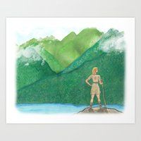 Explorer Girl Art Print