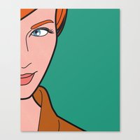 Pop Icon - Madmen 3 Canvas Print