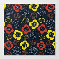 Blooming Wild (red & Yel… Canvas Print