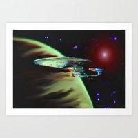 Enterprise NCC 1701D Art Print