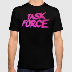 Task Force Mens Fitted Tee SMALL Black