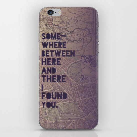 Here & There iPhone & iPod Skin