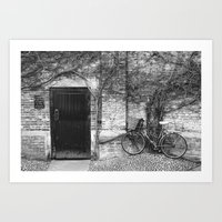 Door & Bicycle Art Print