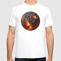 Flaming Seashell 1 Mens Fitted Tee White SMALL