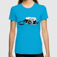 Vintage camera  Womens Fitted Tee Teal SMALL