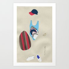 Jaws Bathing Suit Outfit Art Print