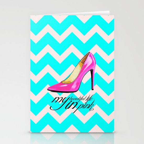 LIFE IN PINK  Stationery Card