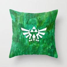 Zelda Triforce Painting Throw Pillow