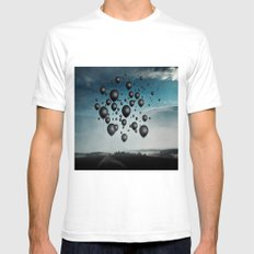 In Limbo - black balloons Mens Fitted Tee White SMALL