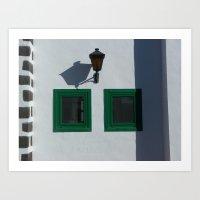 Shadows and Windows Art Print