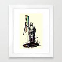 God Of Graffiti Framed Art Print