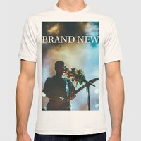 Brand New Mens Fitted Tee Natural SMALL