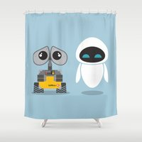 Wall-E And Eve Shower Curtain
