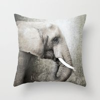 The Old Elephant Throw Pillow